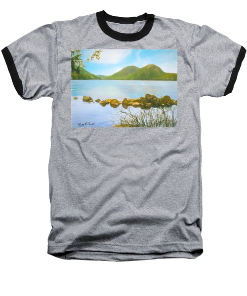 Soft Art Photograph Jordan Pond Acadia Nat. Park Maine Baseball T-Shirt