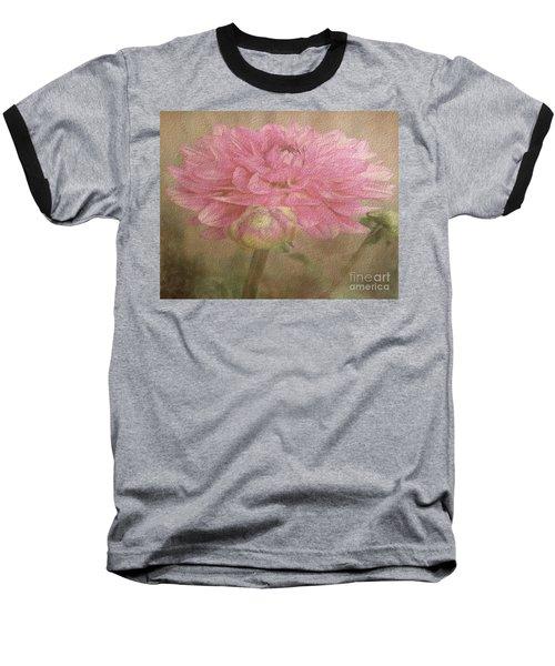 Soft Graceful Pink Painted Dahlia Baseball T-Shirt