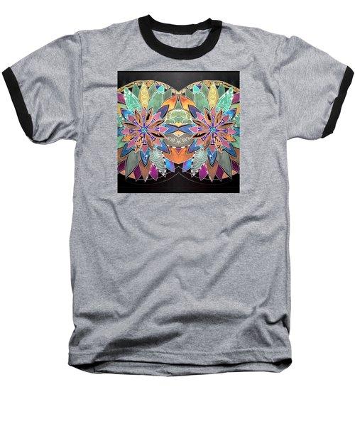 Soft Mandala Baseball T-Shirt by Sandra Lira