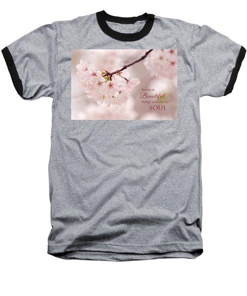 Soft Medley With Message Baseball T-Shirt
