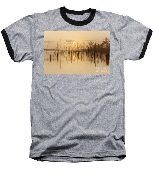 Soft Peach Sunrise At Manasquan Baseball T-Shirt