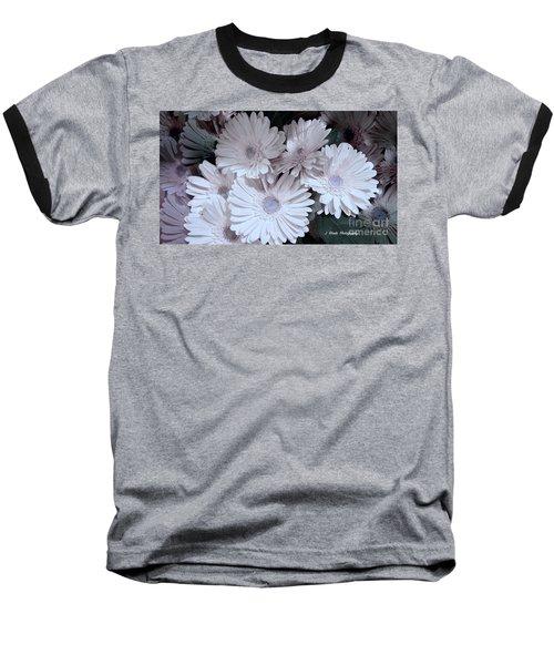 Soft Pink Daisy Bouquet Baseball T-Shirt by Jeannie Rhode