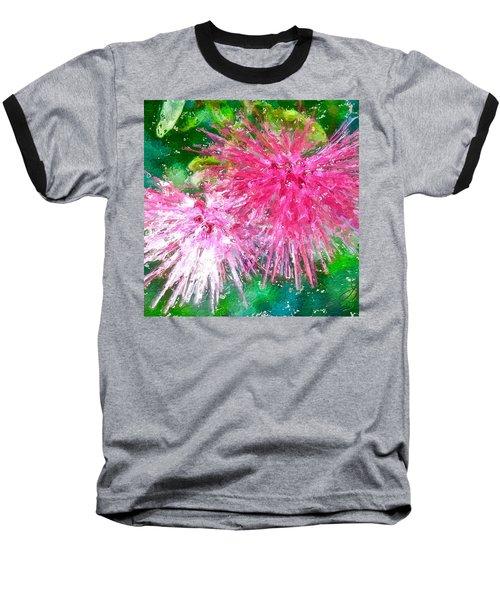Soft Pink Flower Baseball T-Shirt by Joan Reese