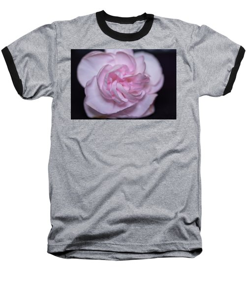 Soft Pink Rose Baseball T-Shirt