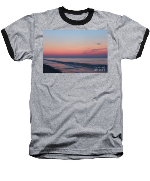 Soft Pink Sunrise Baseball T-Shirt