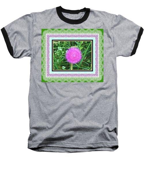 Soft Pink Thistle Baseball T-Shirt