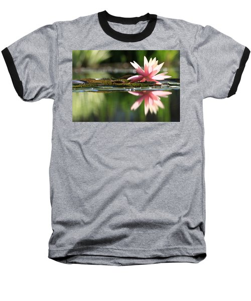 Soft Pink Water Lily Baseball T-Shirt