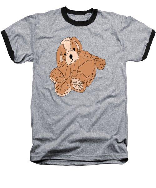 Baseball T-Shirt featuring the digital art Soft Puppy by Jayvon Thomas