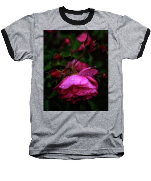 Baseball T-Shirt featuring the photograph Soft Rose After Rain by Alan Raasch