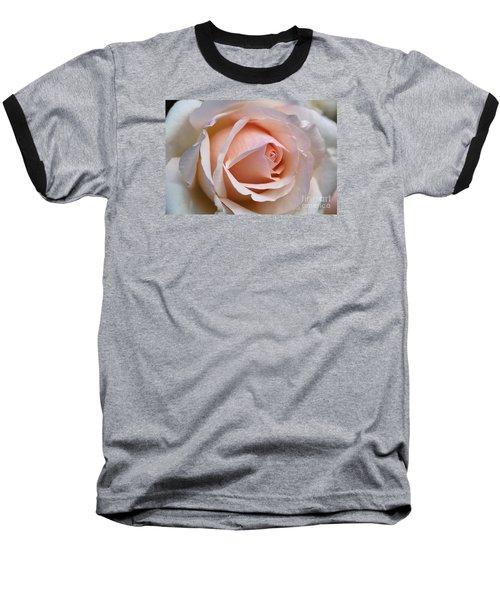 Soft Rose Baseball T-Shirt by Joy Watson