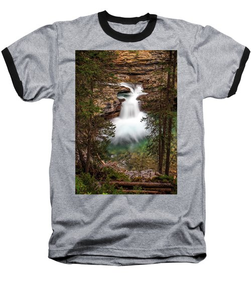 Baseball T-Shirt featuring the photograph Soft Smooth Waterfall by Darcy Michaelchuk