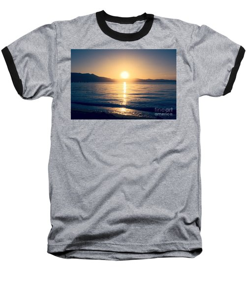 Soft Sunset Lake Baseball T-Shirt