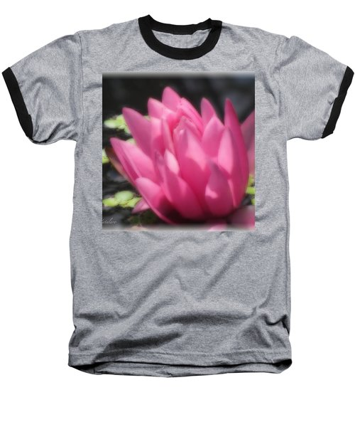 Baseball T-Shirt featuring the photograph Soft Touch Red Lotus by Debra     Vatalaro