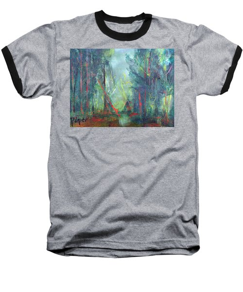 Baseball T-Shirt featuring the painting Softlit Forest by Betty Pieper