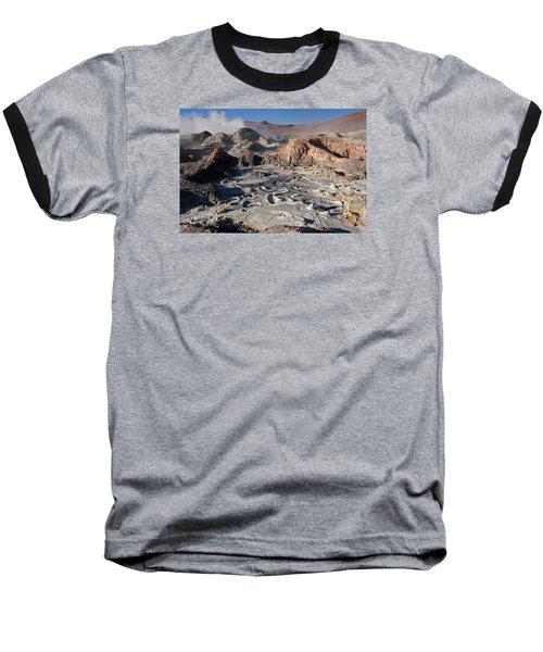 Sol De Manana Geothermal Field  Baseball T-Shirt by Aivar Mikko