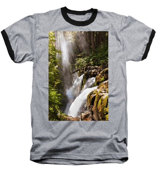 Baseball T-Shirt featuring the photograph Sol Duc Falls by Adam Romanowicz