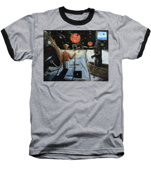 Solar Broadcast -transition- Baseball T-Shirt by Ryan Demaree