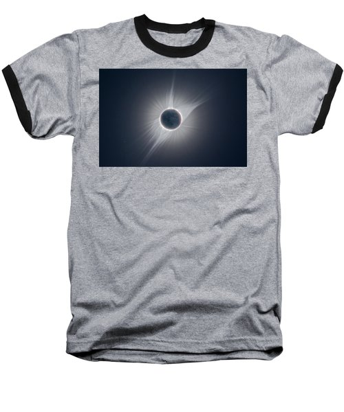 Solar Corona During The Eclipse Of August 21 2017 Baseball T-Shirt