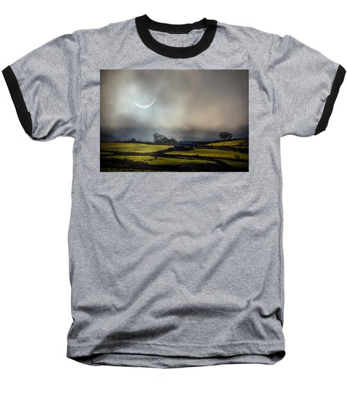 Solar Eclipse Over County Clare Countryside Baseball T-Shirt