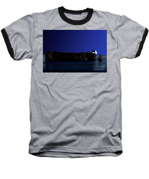 Solar Eclipse Over Perce Rock Baseball T-Shirt