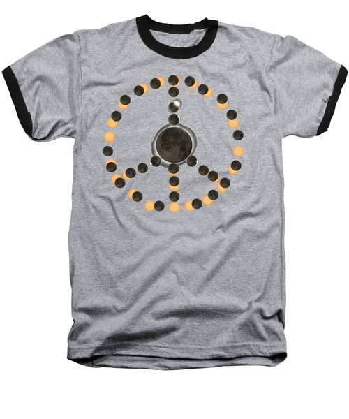 Solar Eclipse Peace On Earth Baseball T-Shirt