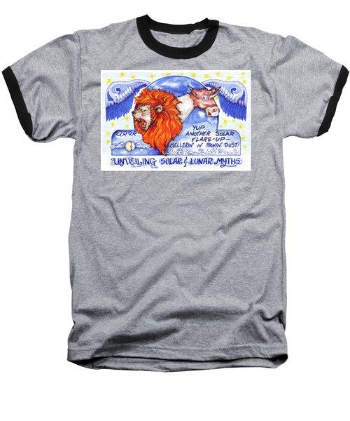 Real Fake News Solar Flare Foto Baseball T-Shirt