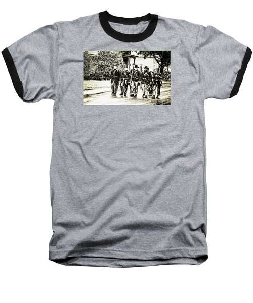 Soldiers Marching In Parade Baseball T-Shirt by Rena Trepanier