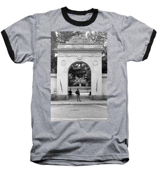 Soldiers Memorial Gate, Brown University, 1972 Baseball T-Shirt