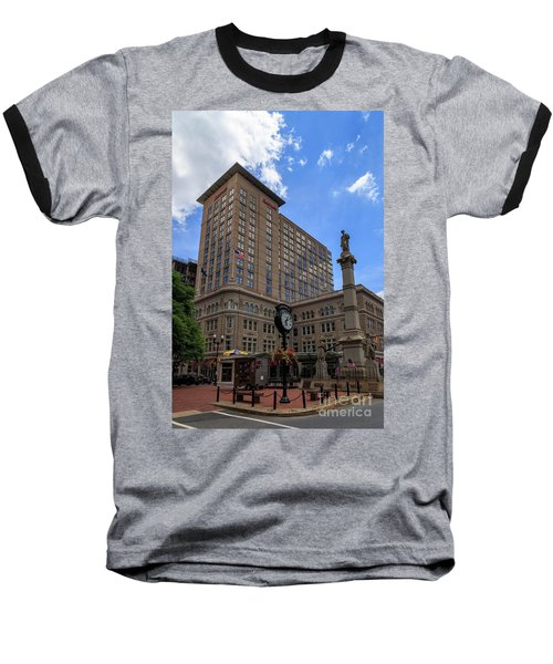 Soldiers Monument In Penn Square In Lancaster Baseball T-Shirt