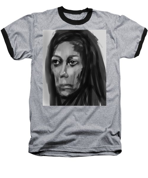 Baseball T-Shirt featuring the painting Solemn by Jim Vance