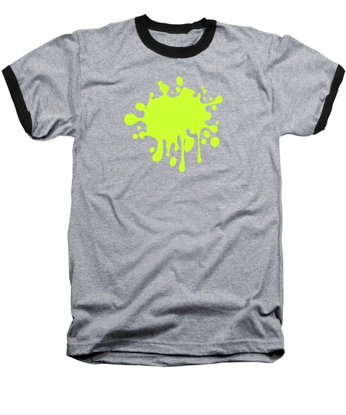 Solid Electric Lime Color Baseball T-Shirt by Garaga Designs