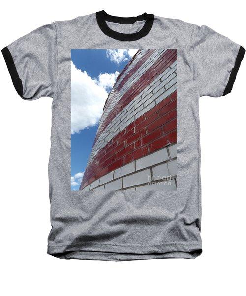 Solid Flag Blue Sky Baseball T-Shirt