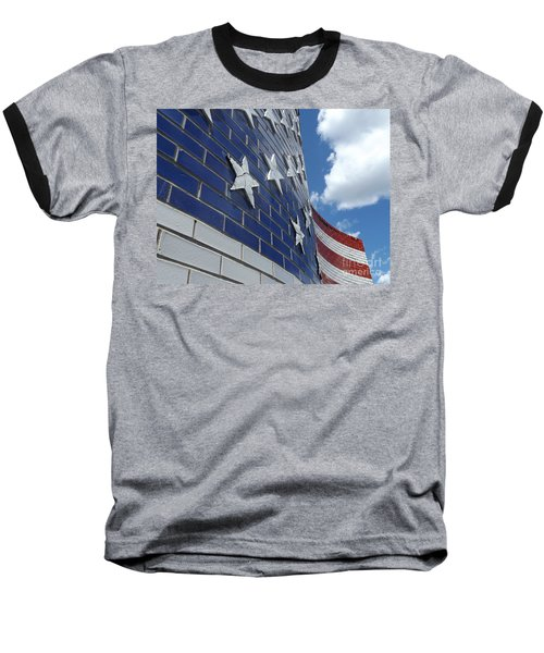 Solid Old Glory  Baseball T-Shirt by Erick Schmidt