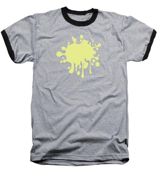 Solid Yellow Pastel Color Baseball T-Shirt by Garaga Designs