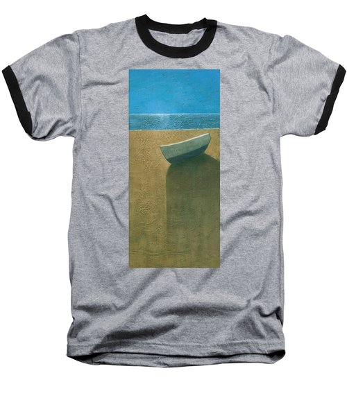 Solitary Boat Baseball T-Shirt by Steve Mitchell