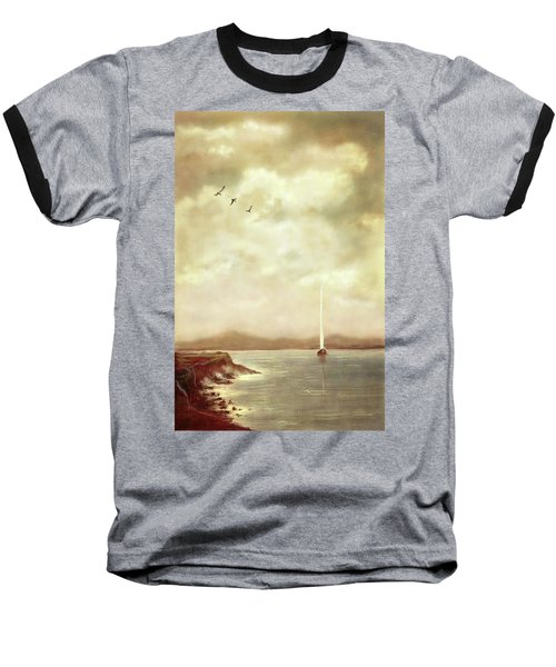 Solitary Sailor Baseball T-Shirt