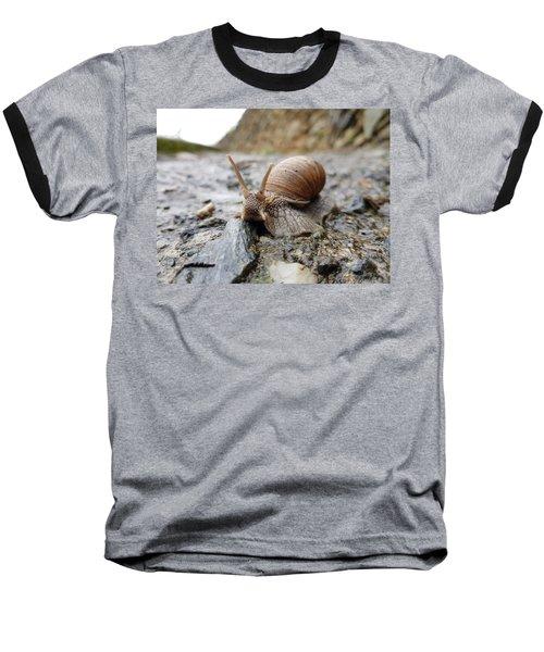 Solitary Snail Baseball T-Shirt