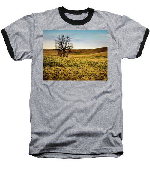 Baseball T-Shirt featuring the photograph Solitary Tree by Chris McKenna