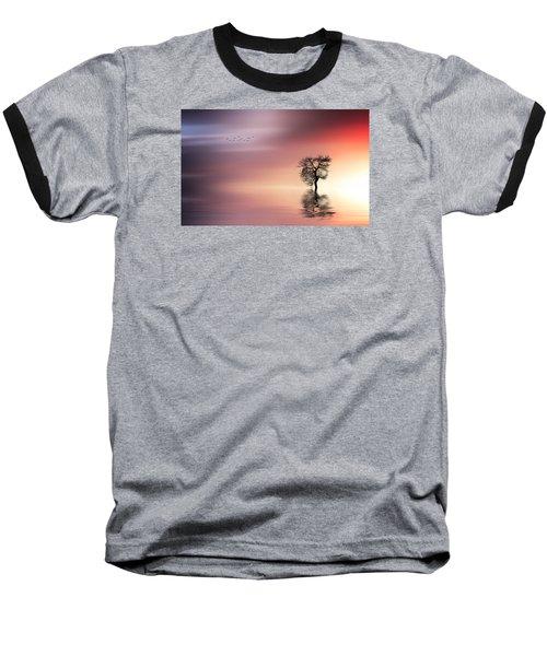 Solitude Baseball T-Shirt by Bess Hamiti