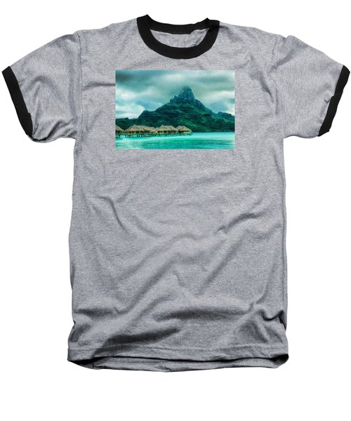 Solitude In Bora Bora Baseball T-Shirt by Gary Slawsky