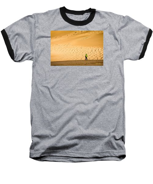 Baseball T-Shirt featuring the photograph Solitude In The Dunes by Rikk Flohr