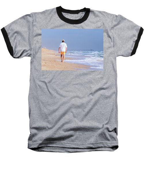 Solitude Baseball T-Shirt by Keith Armstrong