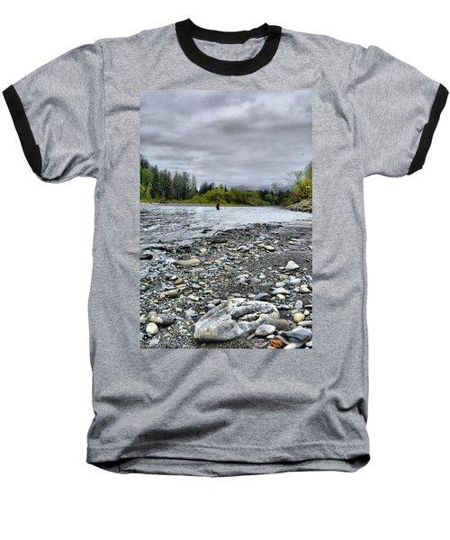 Solitude On The River Baseball T-Shirt