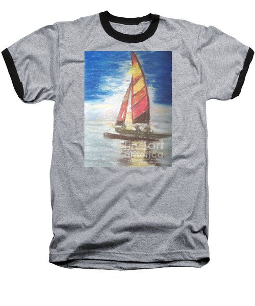 Baseball T-Shirt featuring the painting Solo Ride by Trilby Cole