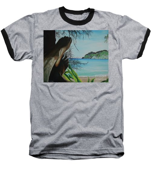Baseball T-Shirt featuring the painting Solo by Stuart Engel