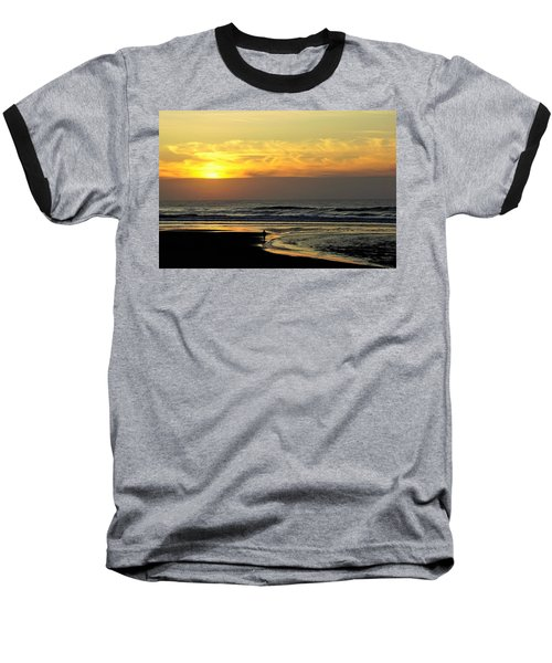 Solo Sunset On The Beach Baseball T-Shirt