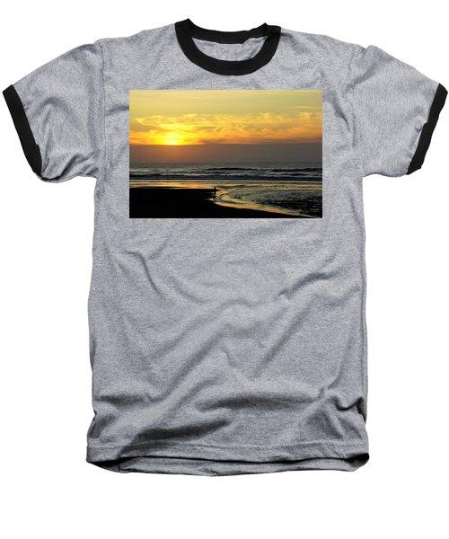 Solo Sunset On The Beach Baseball T-Shirt