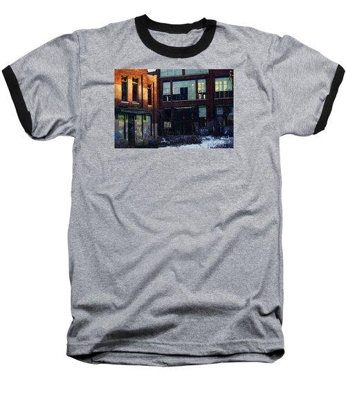 Solvay Coke Baseball T-Shirt by David Blank