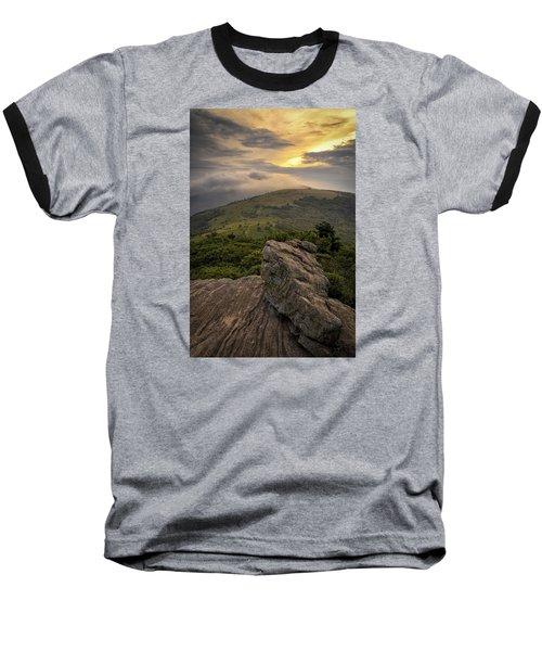 Rocky Sunset - Roan Mountain Baseball T-Shirt