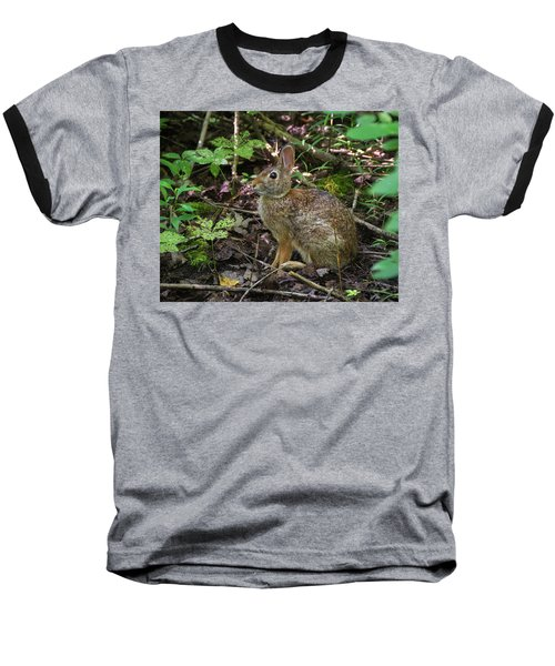 Baseball T-Shirt featuring the photograph Some Bunny Stopped By by Bill Pevlor